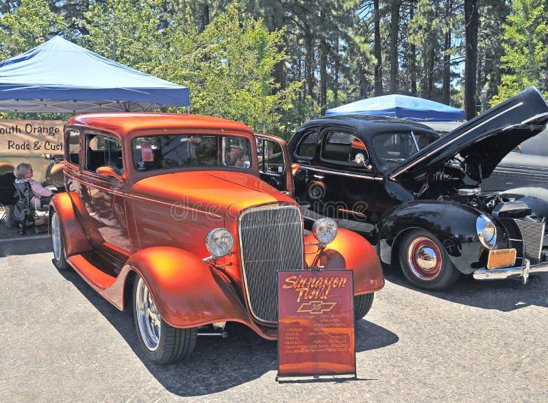 Brinde de canela Chevy Sedan fotografia de stock