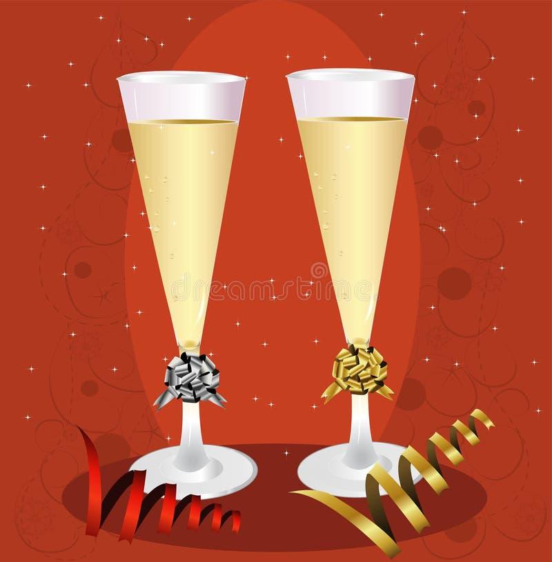 Brinde de Champagne de ano novo ilustração stock