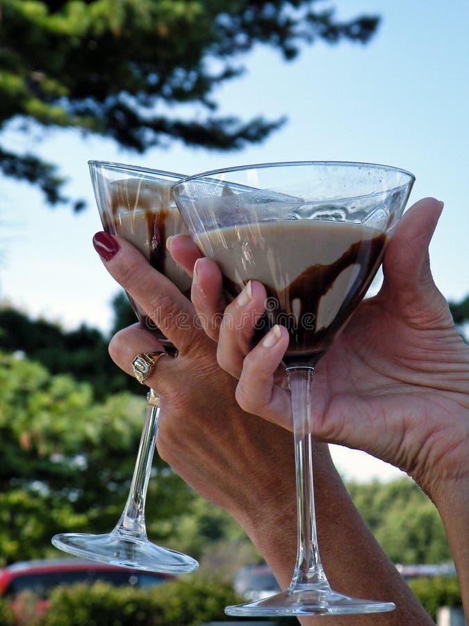 Brinde de Martini do chocolate fotografia de stock royalty free