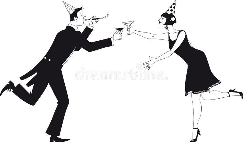 Brinde do ano novo feliz ilustração stock