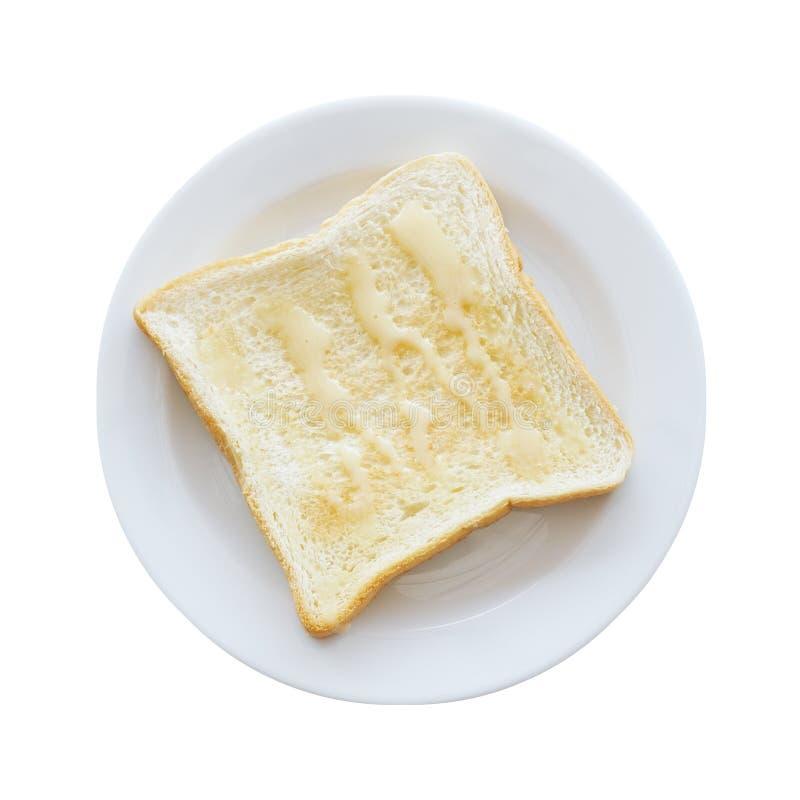 Brinde quadrado com leite condensado abrandado na parte superior fotografia de stock