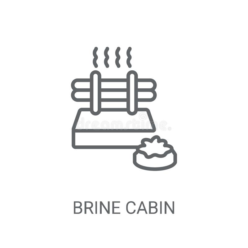 Brine cabin icon. Trendy Brine cabin logo concept on white backg. Round from sauna collection. Suitable for use on web apps, mobile apps and print media royalty free illustration