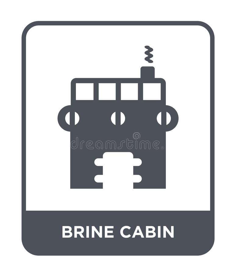 Brine cabin icon in trendy design style. brine cabin icon isolated on white background. brine cabin vector icon simple and modern. Flat symbol for web site vector illustration