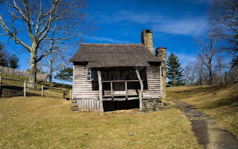 Brinegar Cabin – Blue Ridge Parkway, North Caroline, USA - 2. Brinegar cabin on a beautiful sunny day located at milepost 238.5 on the Blue Ridge Parkway royalty free stock image