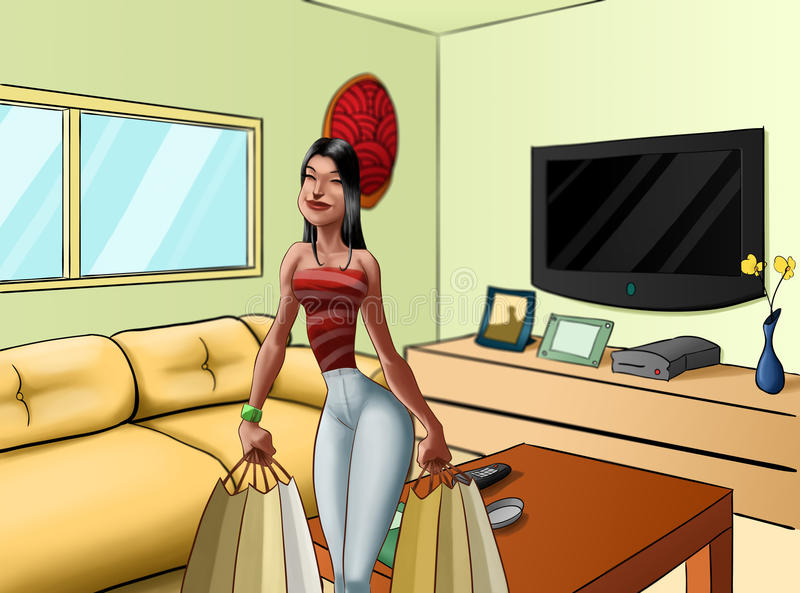 Download Bring gifts to house stock illustration. Illustration of glamour - 20448010