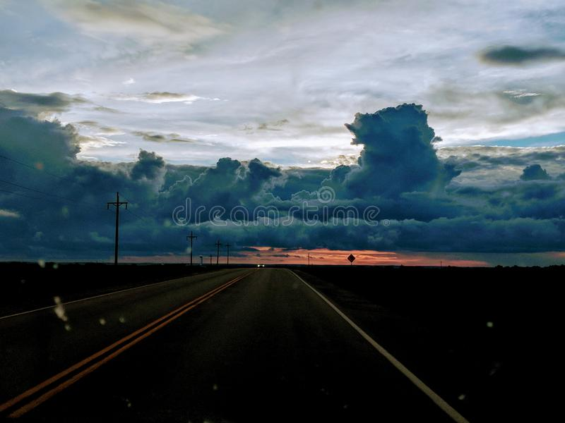 Bring Me the Horizon. The travel journey begins in North Dakota royalty free stock images