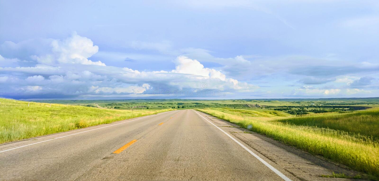 Bring Me the Horizon. The travel journey begins in North Dakota royalty free stock photos