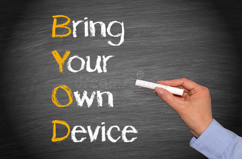 Bring your own device royalty free stock photos