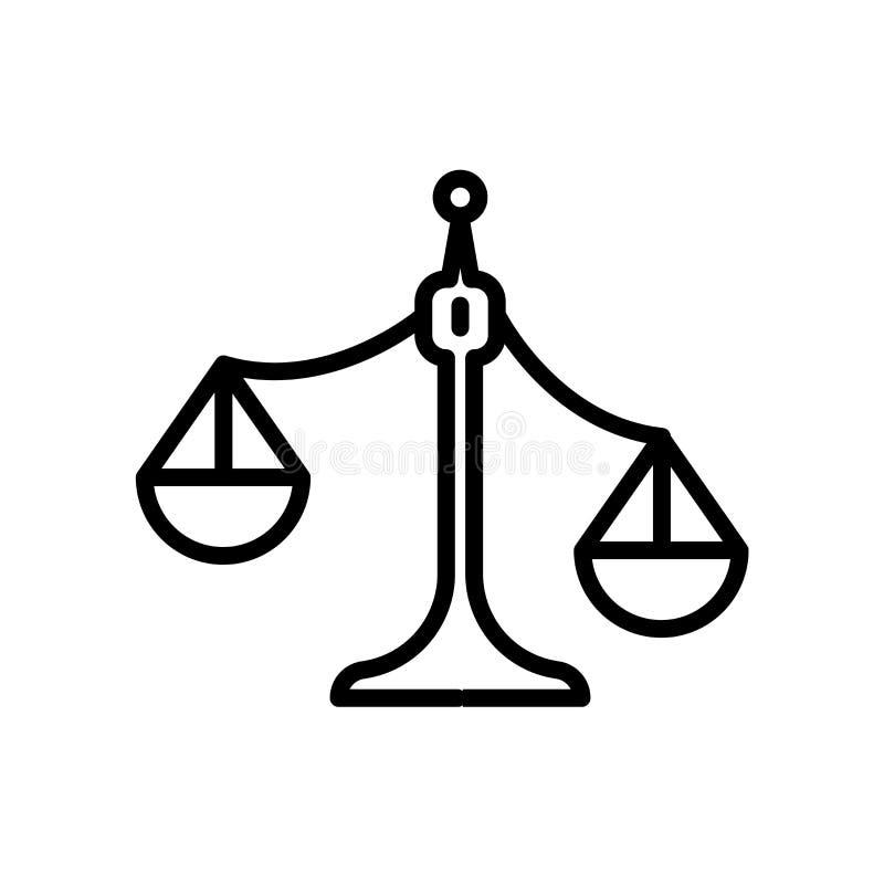 bringad ur balans skalasymbol som isoleras på vit bakgrund stock illustrationer