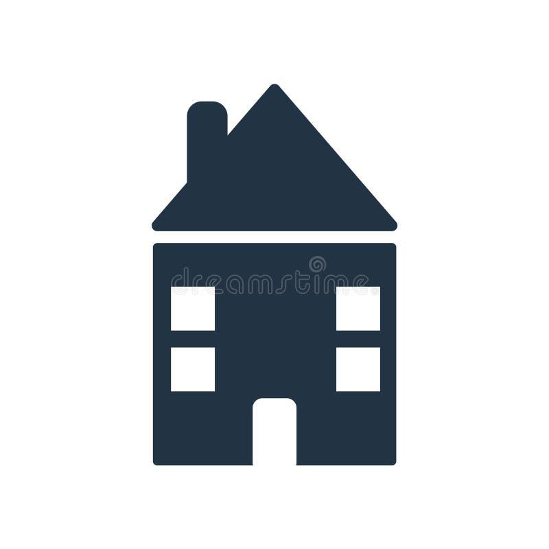 Bringen Sie den Ikonenvektor unter, der auf weißem Hintergrund, Hausmarke lokalisiert wird lizenzfreie abbildung