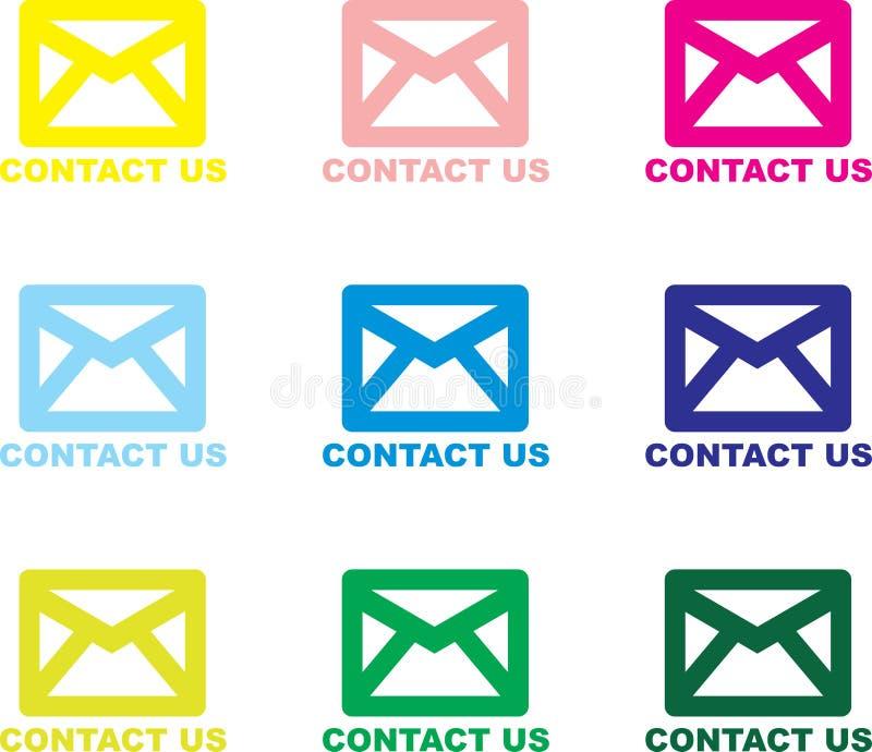 Bringen Sie uns - eMail in Kontakt vektor abbildung