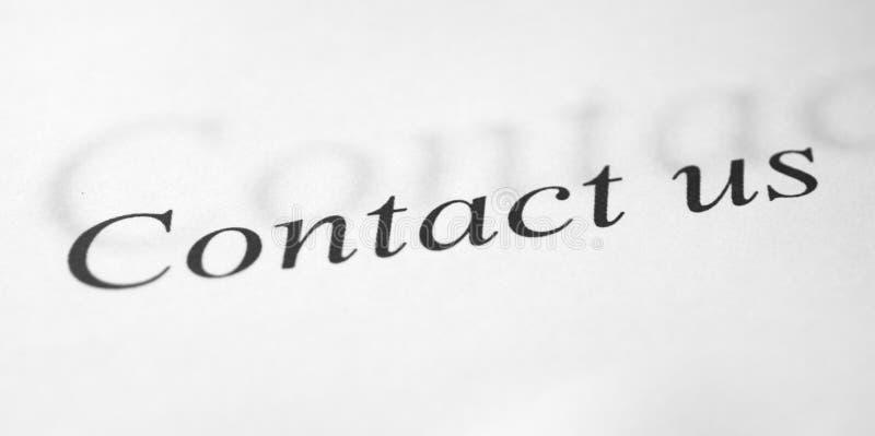 Bringen Sie uns Formular in Kontakt stockfotografie
