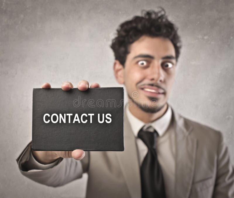 Bringen Sie uns in Kontakt stockbilder
