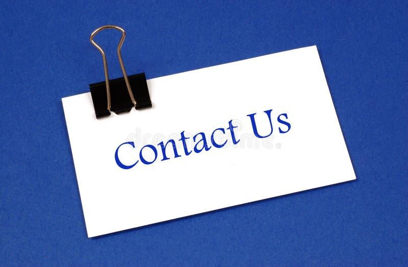 Bringen Sie uns in Kontakt stockfotografie