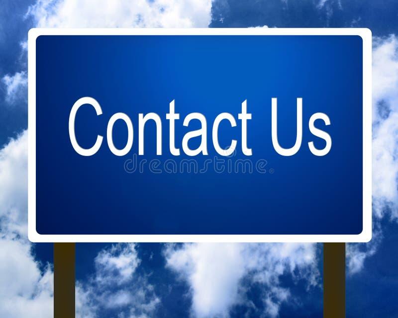 Bringen Sie uns Zeichen in Kontakt lizenzfreie abbildung