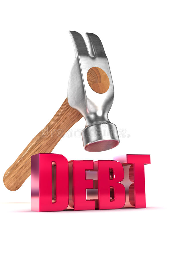 Download Bringing Down Debt Royalty Free Stock Photo - Image: 30733615