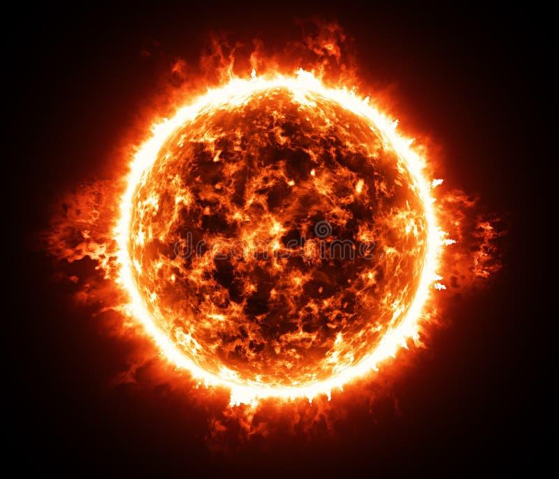 Brinnande atmosfär av den röda jätte- stjärnan royaltyfri illustrationer