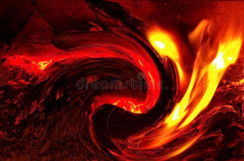 Brinnande brand och flammor fotografering för bildbyråer
