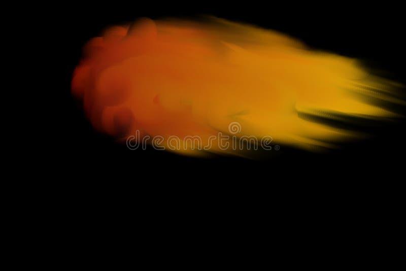 Brinnande komet royaltyfri illustrationer