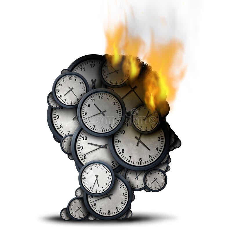 Brinnande Tid affärsspänning stock illustrationer