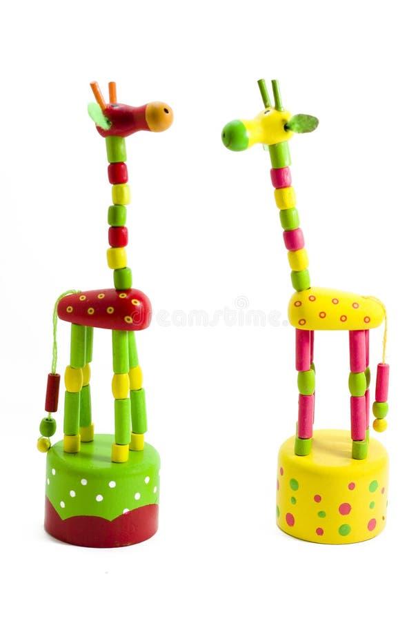 Brinque um giraffe fotos de stock royalty free
