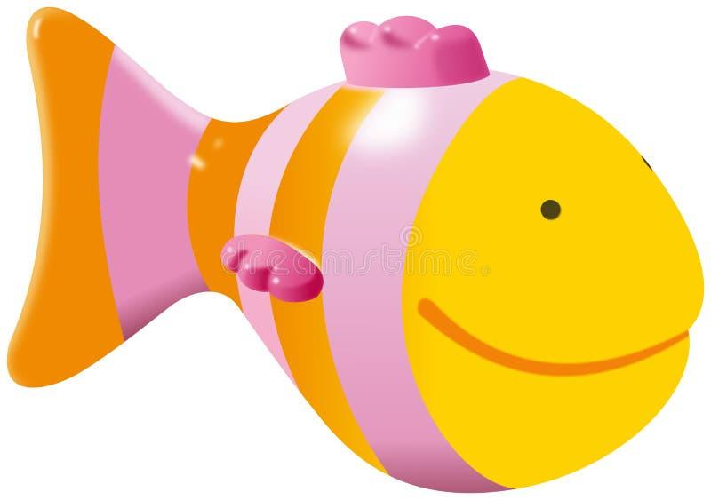 Brinquedo amarelo pequeno dos peixes ilustração do vetor