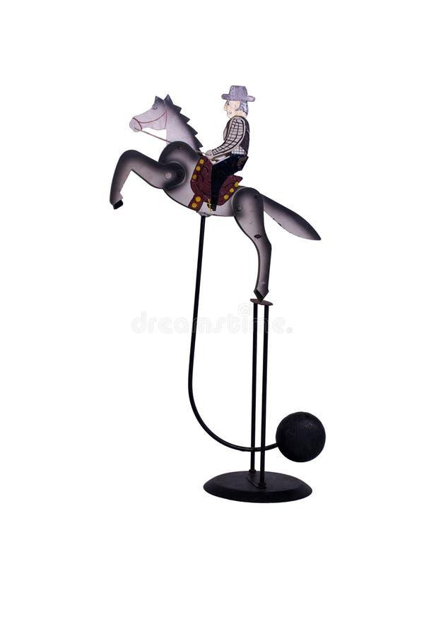 Brinquedo antigo do equilíbrio do cavalo de balanço imagem de stock