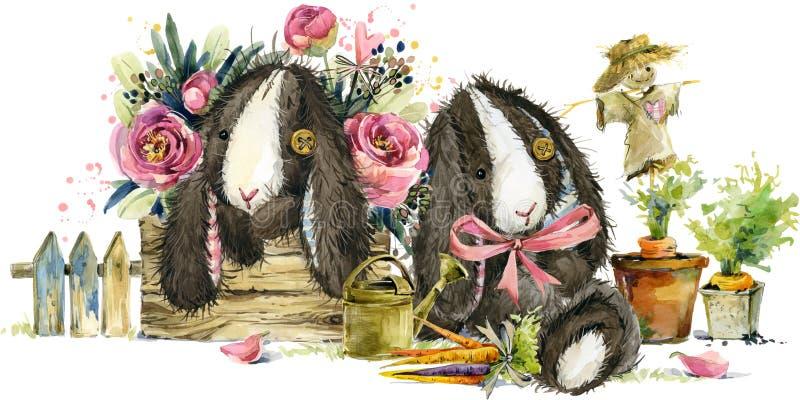 Brinquedo bonito do coelho dos desenhos animados ilustração stock