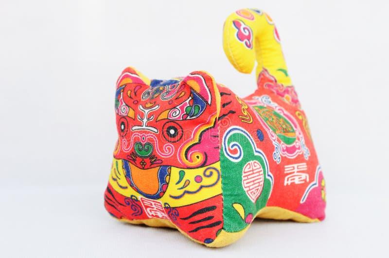 Brinquedo chinês do tigre fotografia de stock