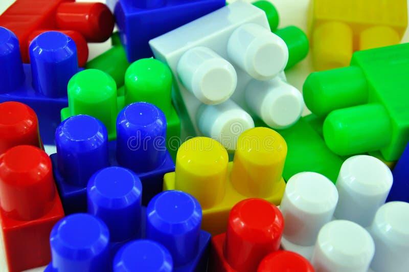 Brinquedo colorido de Lego foto de stock