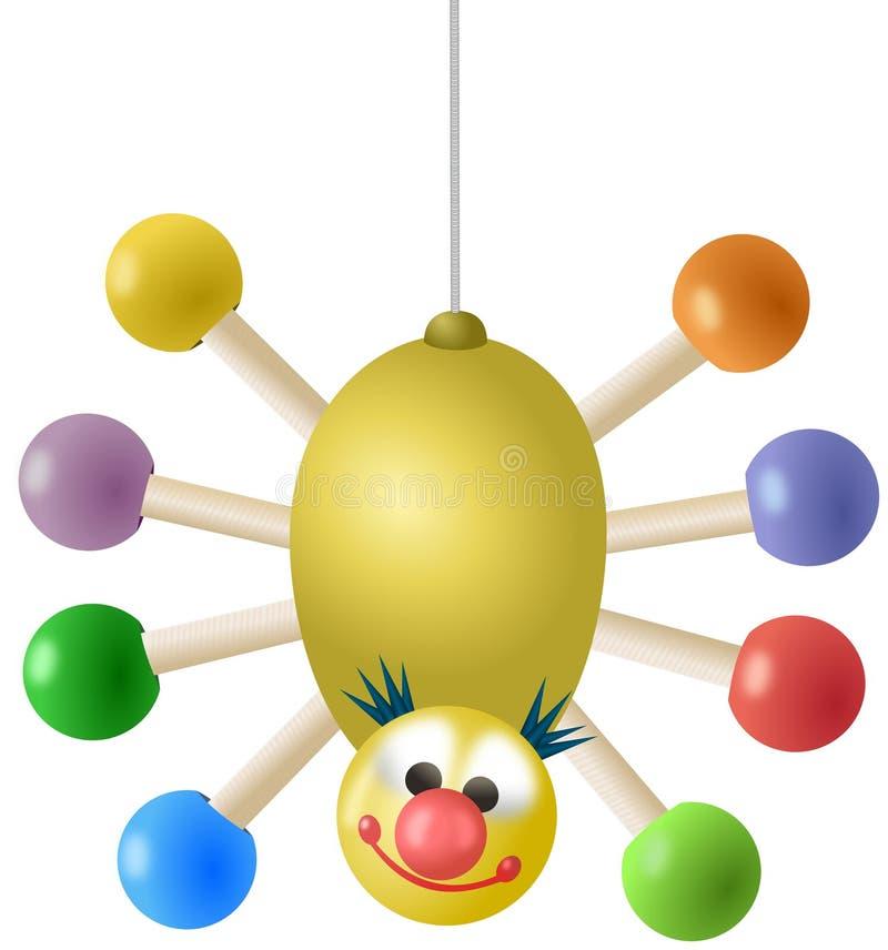 Brinquedo colorido de suspensão da aranha ilustração do vetor