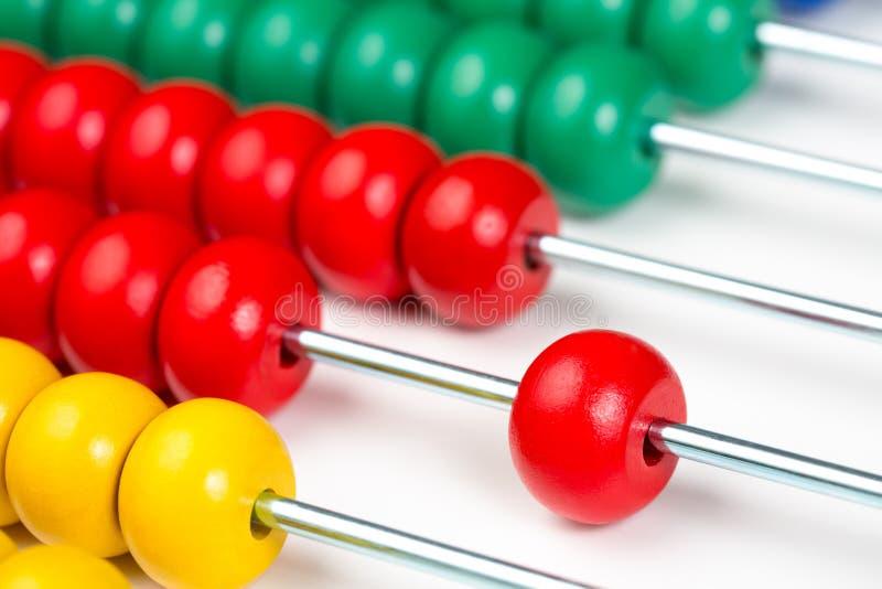 Brinquedo colorido do ábaco fotos de stock