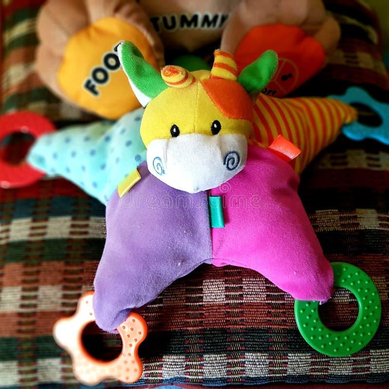Brinquedo colorido do bebê foto de stock