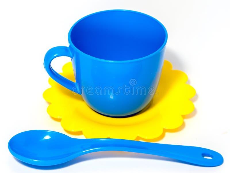 Brinquedo colorido do copo de chá foto de stock