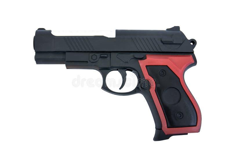 Brinquedo da arma isolado no fundo branco O brinquedo da arma da pistola isolou-se Brinquedo do revólver isolado imagem de stock royalty free
