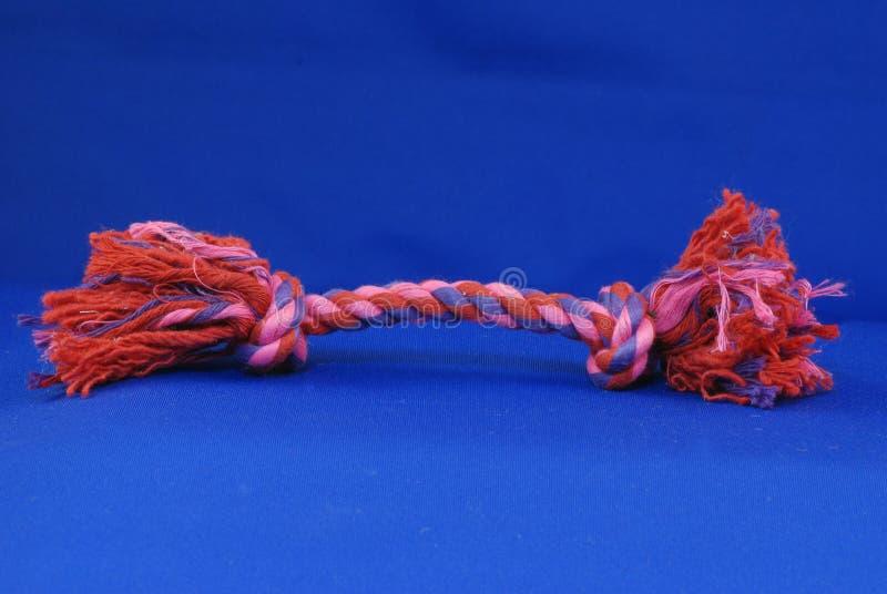 Brinquedo da corda do reboque do cão fotografia de stock