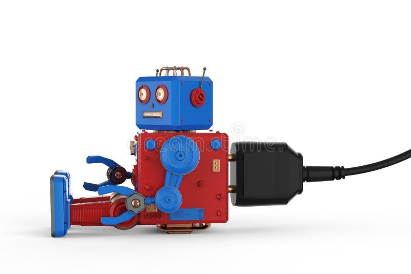 Brinquedo da lata do robô com tomada