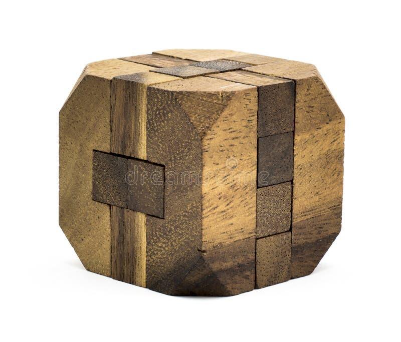 Brinquedo de madeira cúbico foto de stock royalty free