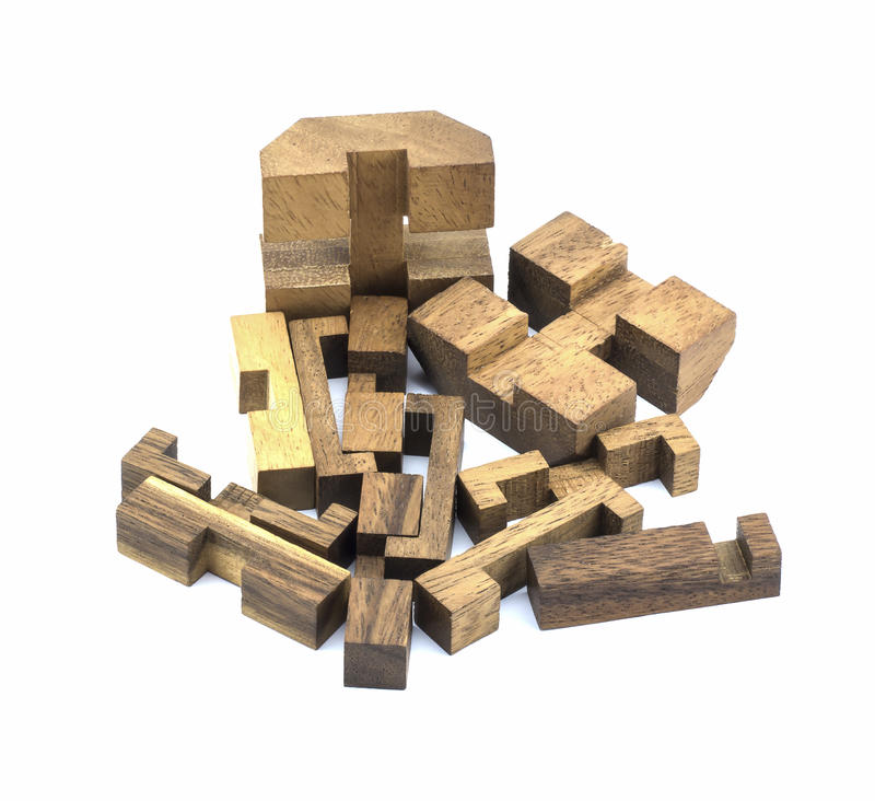 Brinquedo de madeira cúbico imagem de stock royalty free
