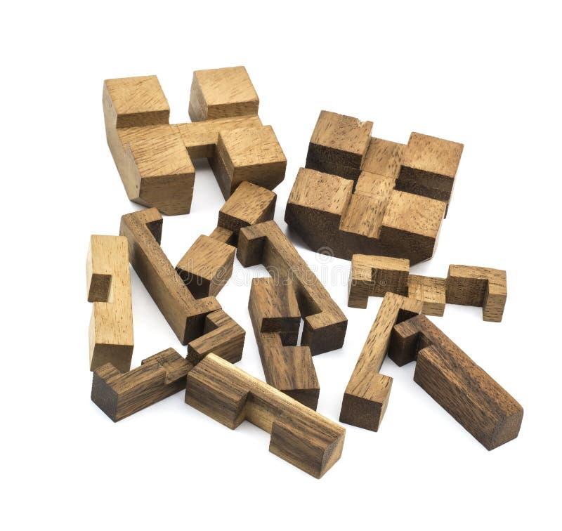 Brinquedo de madeira cúbico imagem de stock