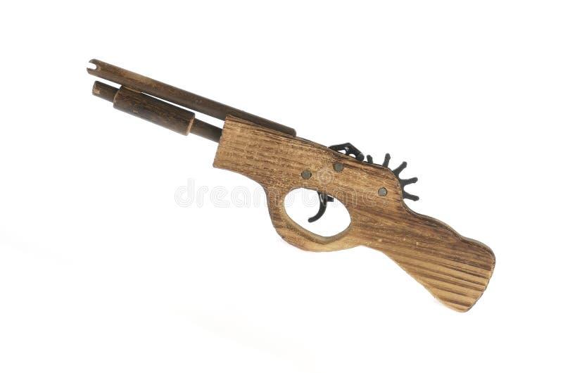 Brinquedo de madeira da arma foto de stock royalty free