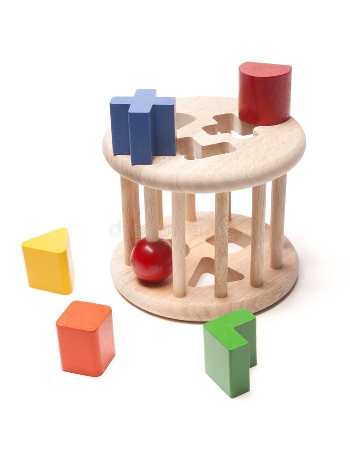 Brinquedo de madeira da criança do classificador imagem de stock royalty free