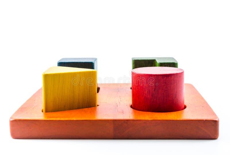 brinquedo de madeira do classificador da forma dos blocos fotos de stock royalty free