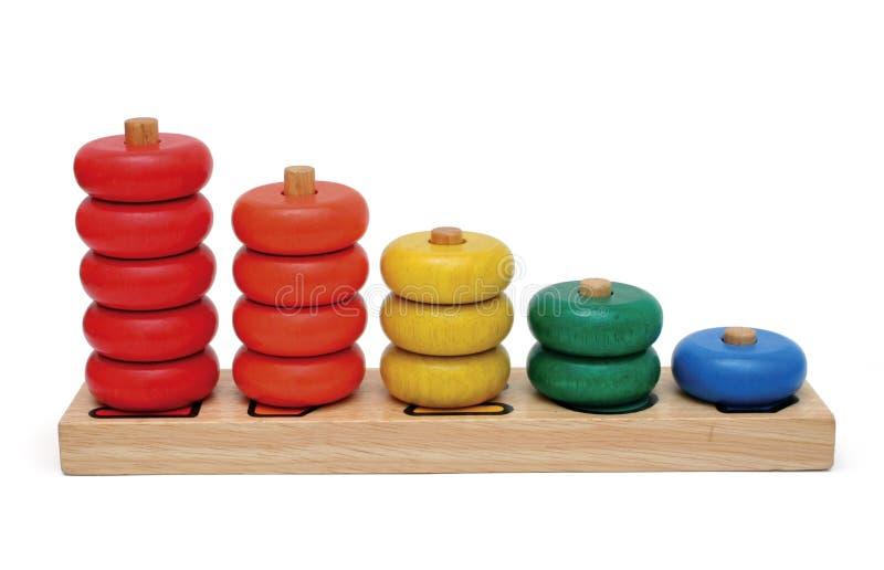 Brinquedo de madeira do número imagem de stock
