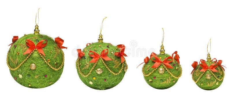 Brinquedo de suspensão da decoração das bolas do Natal, Backgroun branco isolado imagem de stock