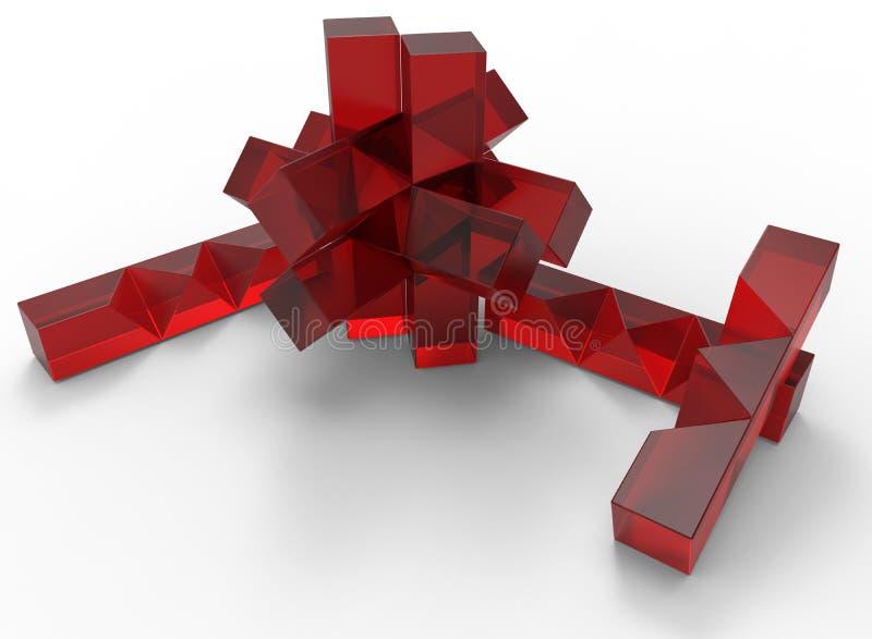 Brinquedo de vidro da serra de vaivém ilustração do vetor