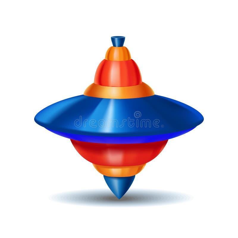 Brinquedo detalhado realístico do carrossel do zumbido 3d Vetor ilustração stock