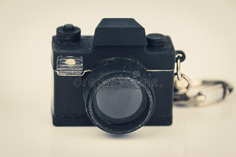 Brinquedo diminuto da câmera da foto, conceito da fotografia, filtro do vintage imagens de stock royalty free