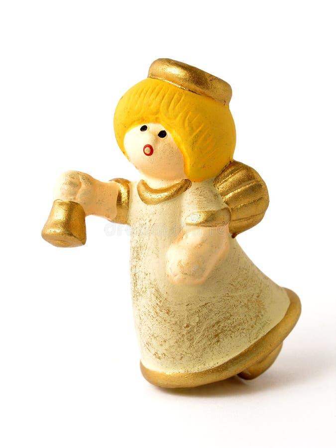 Brinquedo do anjo do Natal imagem de stock
