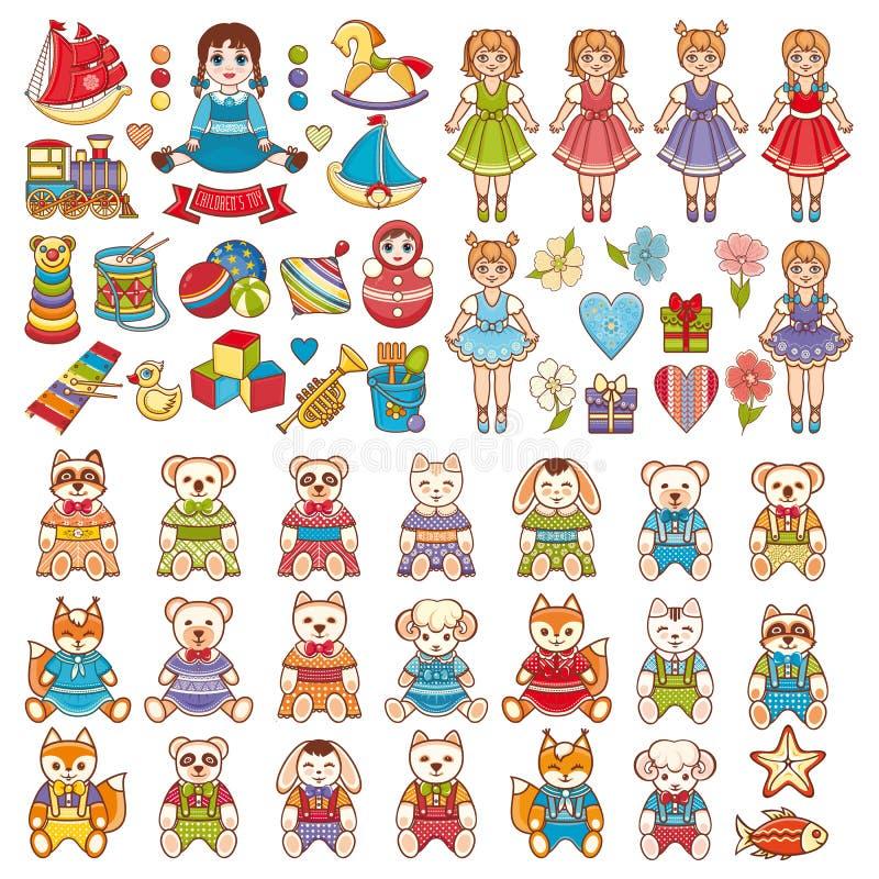 Brinquedo do bebê jogo ilustração royalty free